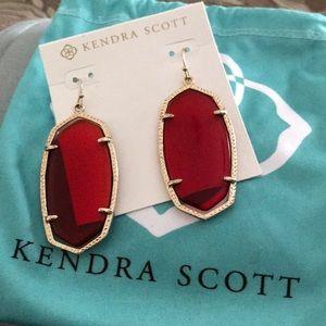 Kendra Scott Danielle Red Translucent Earrings